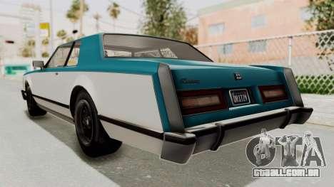 GTA 5 Dundreary Virgo Classic IVF para GTA San Andreas vista direita