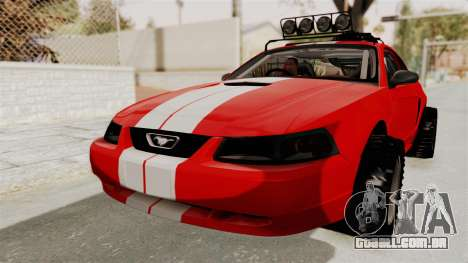 Ford Mustang 1999 Rusty Rebel para GTA San Andreas vista direita
