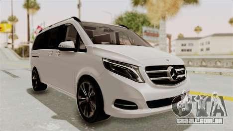 Mercedes-Benz V-Class 2015 para GTA San Andreas vista direita