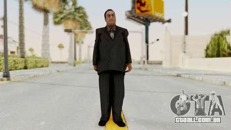 Taher Shah Black Suit para GTA San Andreas segunda tela