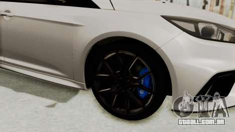 Ford Focus RS 2017 para GTA San Andreas vista traseira