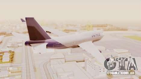 Boeing 747-400 United Airlines para GTA San Andreas esquerda vista