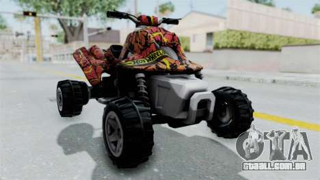 Sand Stinger from Hot Wheels Worlds Best Driver para GTA San Andreas vista direita