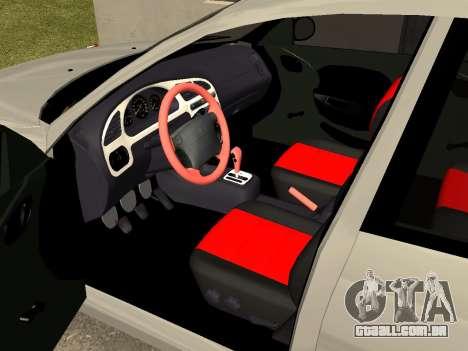 Daewoo Lanos (Sens) 2004 v1.0 by Greedy para GTA San Andreas vista interior