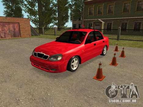 Daewoo Lanos (Sens) 2004 v1.0 by Greedy para GTA San Andreas vista inferior