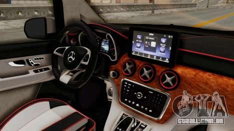 Mercedes-Benz V-Class 2015 para GTA San Andreas vista interior