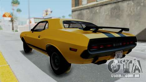 Dodge Challenger RT 440 1970 Six Pack para GTA San Andreas esquerda vista
