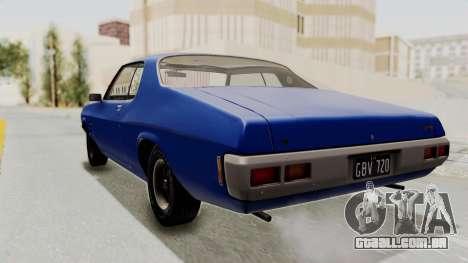 Holden Monaro GTS 1971 AU Plate IVF para GTA San Andreas esquerda vista