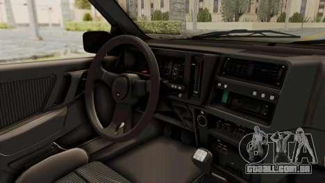 Ford Sierra Mk1 Drag Version para GTA San Andreas vista interior