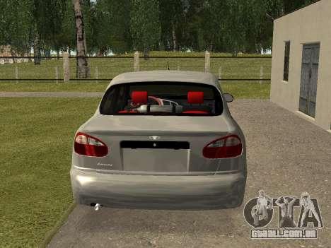 Daewoo Lanos (Sens) 2004 v1.0 by Greedy para GTA San Andreas traseira esquerda vista