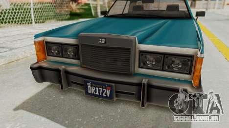 GTA 5 Dundreary Virgo Classic IVF para GTA San Andreas vista interior