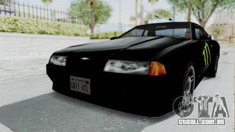 Monster Elegy para GTA San Andreas traseira esquerda vista