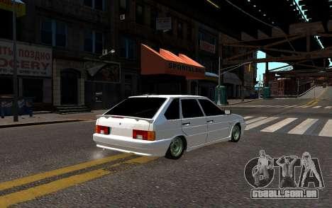 VAZ 2114 Brodyaga para GTA 4 traseira esquerda vista