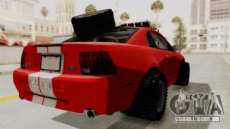 Ford Mustang 1999 Rusty Rebel para GTA San Andreas esquerda vista