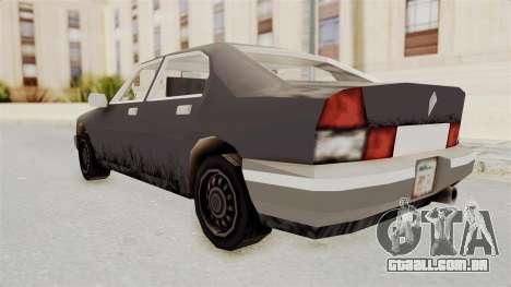 GTA 3 Sentinel para GTA San Andreas esquerda vista