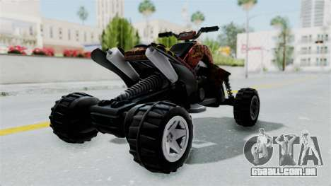 Sand Stinger from Hot Wheels Worlds Best Driver para GTA San Andreas traseira esquerda vista