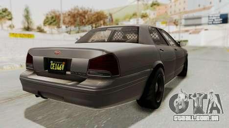 GTA 5 Vapid Stanier II Police Cruiser 2 IVF para GTA San Andreas esquerda vista