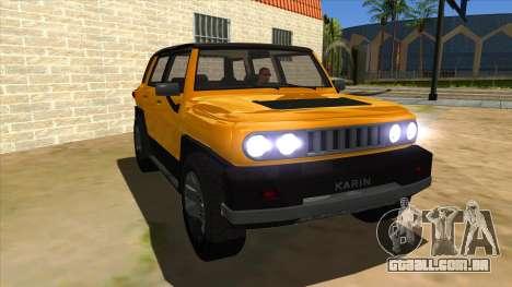 Karin Beejay XL para GTA San Andreas vista traseira