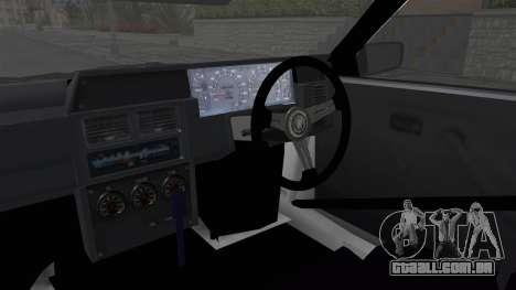 Nissan Skyline R31 para GTA San Andreas vista interior