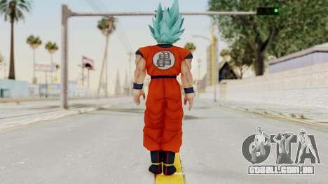Dragon Ball Xenoverse Goku SSGGSS para GTA San Andreas terceira tela