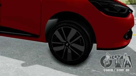 Renault Clio 4 HQLM para GTA San Andreas vista traseira