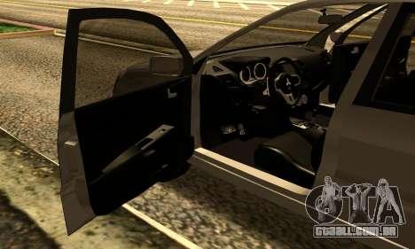 Mitsubishi Lancer 2005 para GTA San Andreas vista traseira