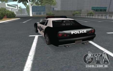 Elegy SAPD para GTA San Andreas esquerda vista