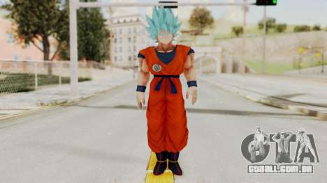 Dragon Ball Xenoverse Goku SSGGSS para GTA San Andreas segunda tela