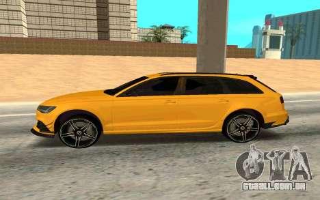 Audi RS6 Avant 2015 ABT para GTA San Andreas esquerda vista