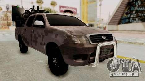 Toyota Hilux 2014 Army Libyan para GTA San Andreas vista direita