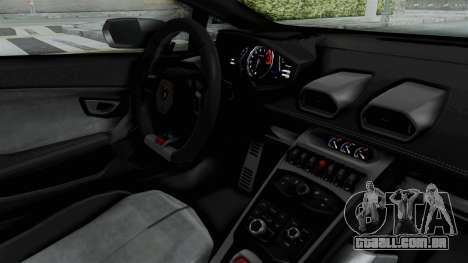 Lamborghini Huracan LP610-4 2015 Liberty Walk LB para GTA San Andreas vista interior