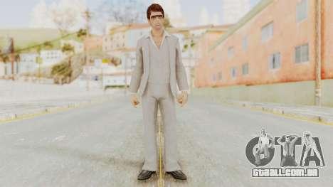 Scarface Tony Montana Suit v1 with Glasses para GTA San Andreas segunda tela