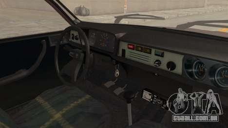 Dacia 1310 TX Tuning para GTA San Andreas vista interior