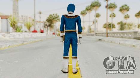 Power Ranger Zeo - Blue para GTA San Andreas terceira tela