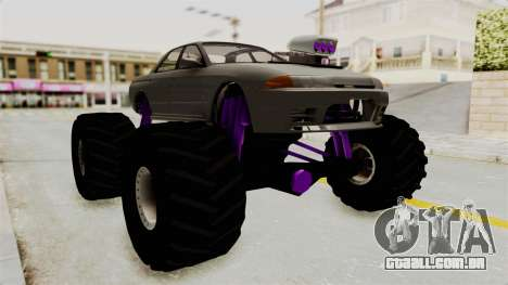 Nissan Skyline R32 4 Door Monster Truck para GTA San Andreas vista direita