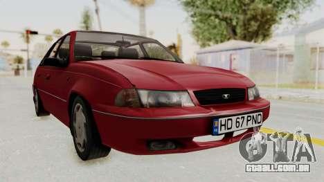 Daewoo Cielo 1.5 GLS 1998 para GTA San Andreas traseira esquerda vista