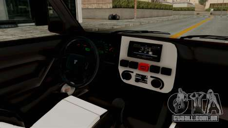 Tofas Dogan 1.6 para GTA San Andreas vista interior