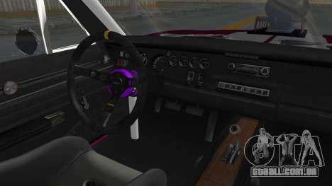 Dodge Charger 1969 Drag para GTA San Andreas vista interior
