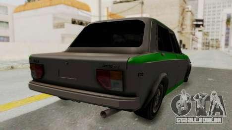 Fiat 128 De Picadas para GTA San Andreas traseira esquerda vista