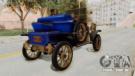 Ford T 1912 Open Roadster v2 para GTA San Andreas esquerda vista
