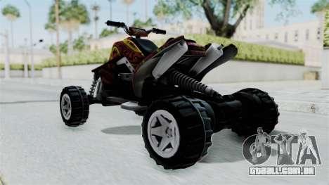 Sand Stinger from Hot Wheels v2 para GTA San Andreas traseira esquerda vista