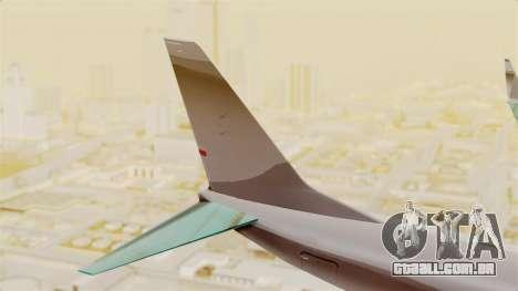 Boeing 737-3U3 Garuda Indonesia Retro para GTA San Andreas traseira esquerda vista