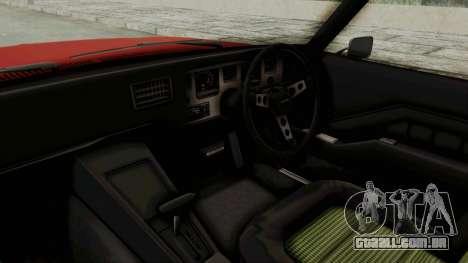 Holden Monaro GTS 1971 SA Plate IVF para GTA San Andreas vista interior