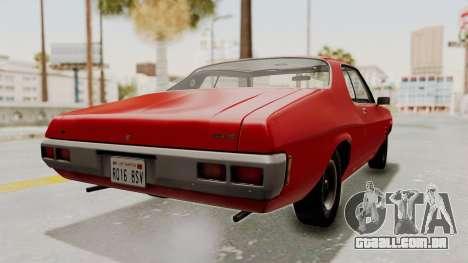 Holden Monaro GTS 1971 SA Plate IVF para GTA San Andreas esquerda vista