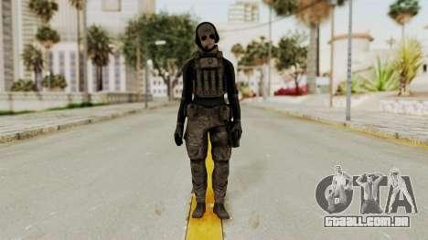 Phantomers Linda Sashantti Soldier para GTA San Andreas segunda tela