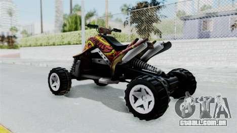 Sand Stinger from Hot Wheels Worlds Best Driver para GTA San Andreas esquerda vista