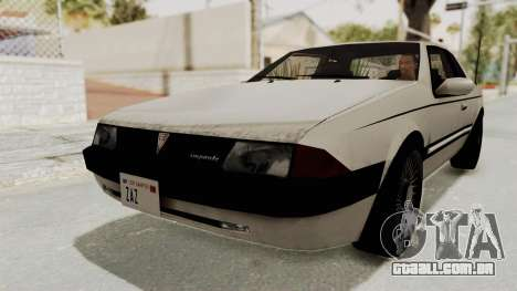 Imponte Bravura V6 Sport 1990 para GTA San Andreas vista direita