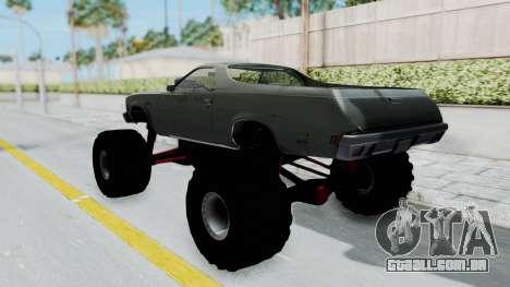 Chevrolet El Camino 1973 Monster Truck para GTA San Andreas traseira esquerda vista