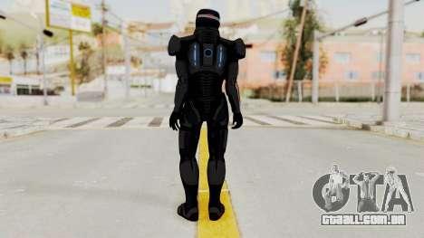 ME2 Shepard Default N7 Armor with Capacitor Helm para GTA San Andreas terceira tela