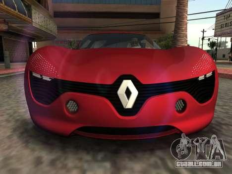Renault Dezir Concept para GTA San Andreas vista direita